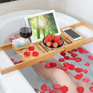Bamboo Bath Tray Multi-function