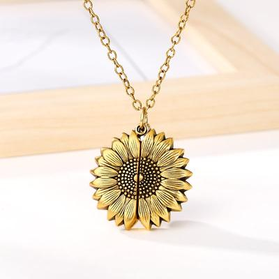 Secret Message Sunflower Necklace
