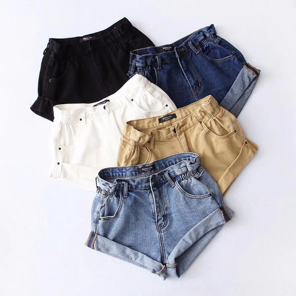 'Crush on you' denim shorts