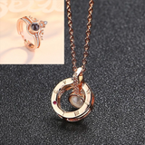 Necklace Romantic Love (2 FREE CROWN RINGS INCLUDED)