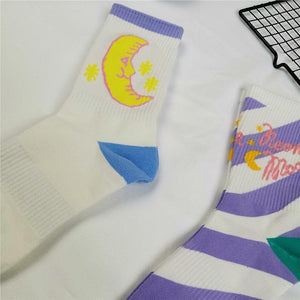 Moon crew socks