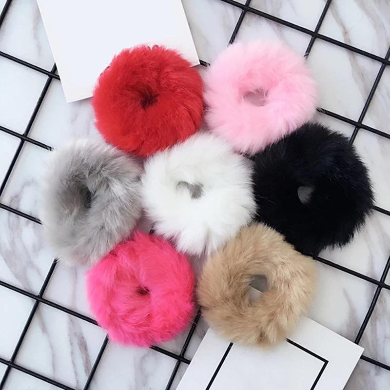 Fluffy scrunchies - 12 colours