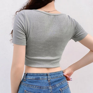 'Venus' button up crop top