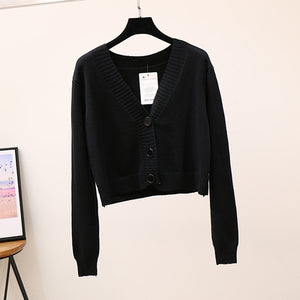 'Everly' knitted crop cardigan - 10 colours