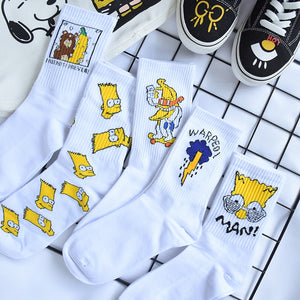 Warped crew socks