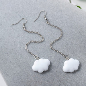 Cloud chain earrings