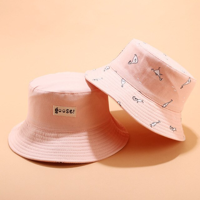 Goose Reversable Bucket Hats