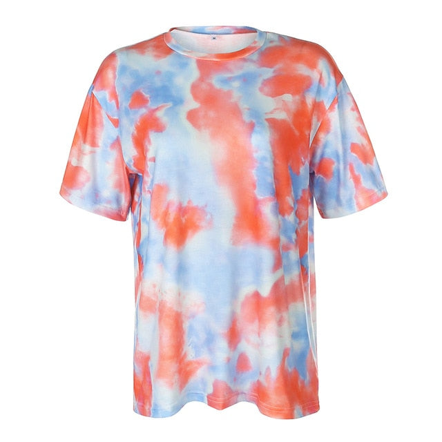 Orange Tie Dye T-Shirt Set