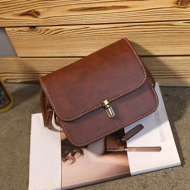 Leather Satchel Handbag