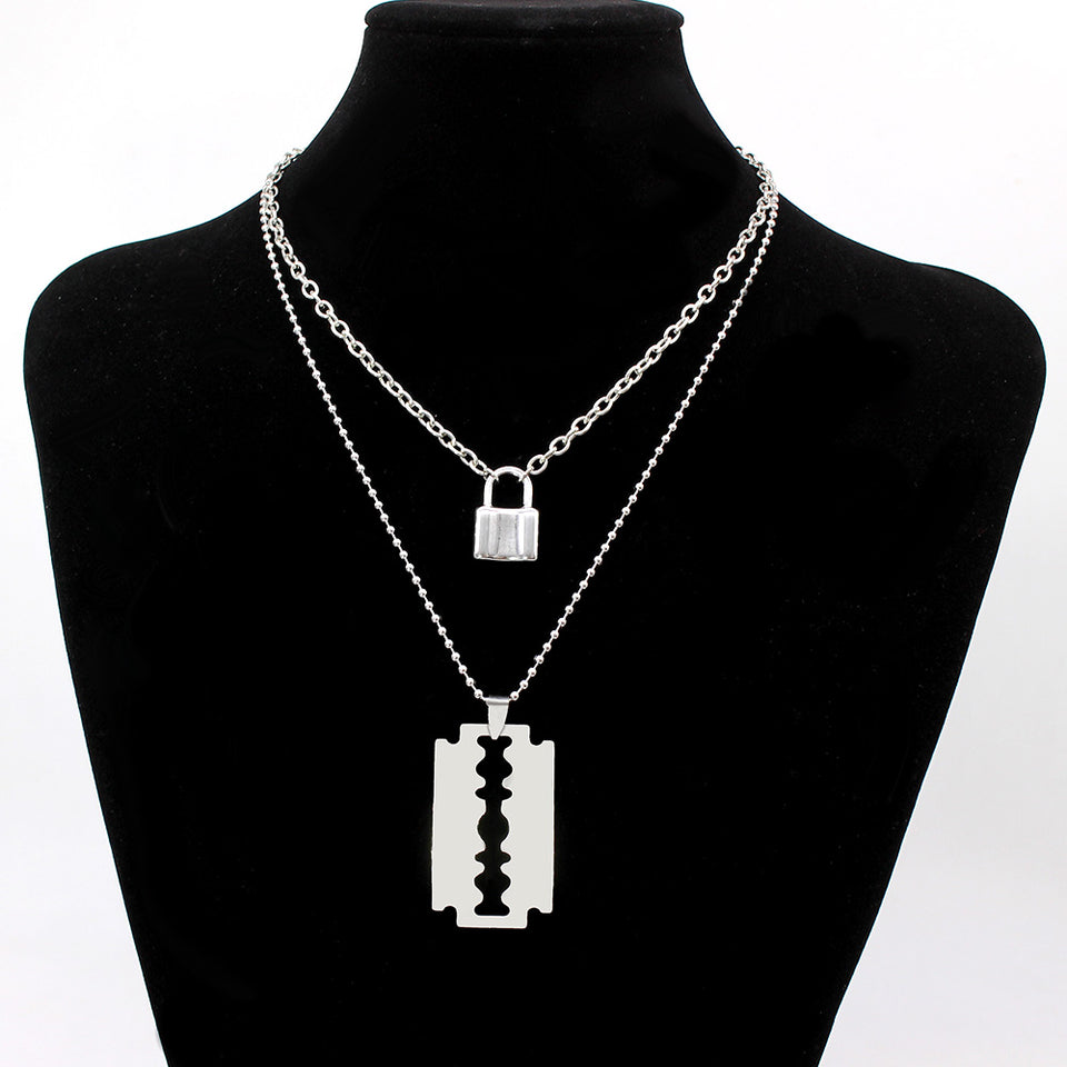 Key & lock necklace