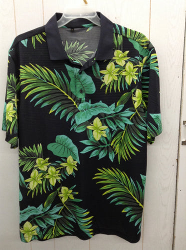 Mens Hawaiian Polo Shirt Sz XL