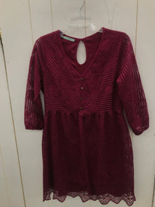 Maurices Burgundy Womens Size 6 Dress