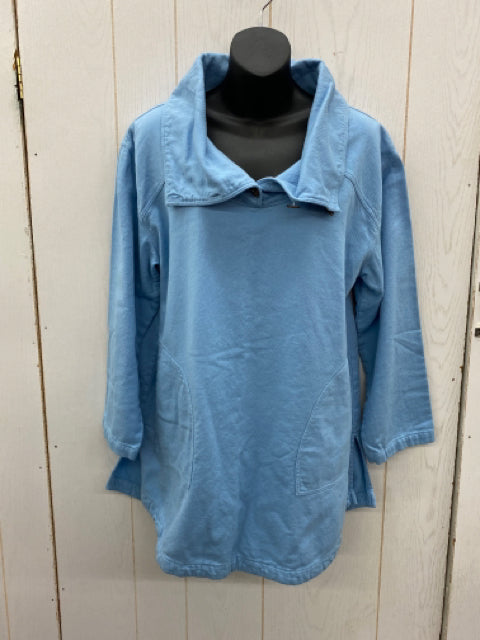 Size Small Soft Surroundings Blue Womens Sweatshirt