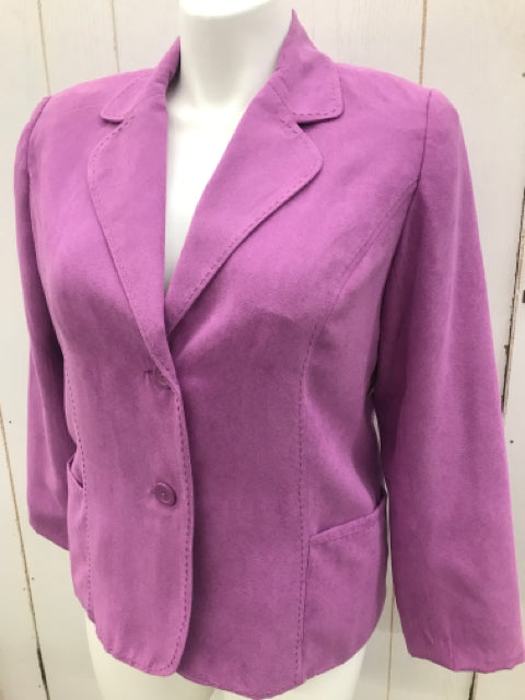 Purple Womens Size 14P Studio Works Blazer