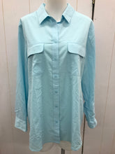 Load image into Gallery viewer, Chico's Blue Womens Blouse