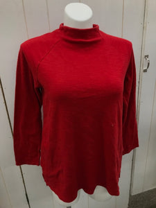J Jill Red Womens Size L Shirt