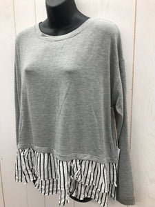 Lumiere Gray Womens Shirt NEW