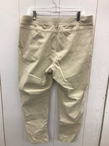 Soft Sensations Khaki Womens Size L/P Pants