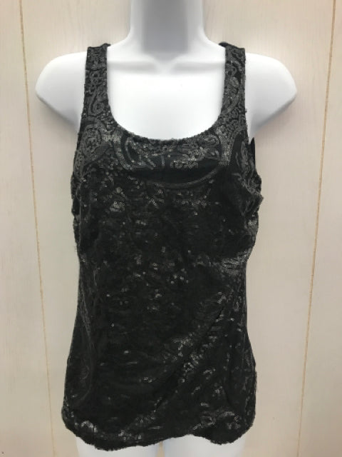 Symmetry Black Womens Sequin Top