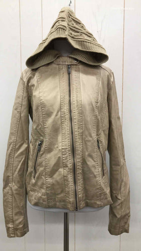 Maurices Beige Womens Size M Jacket (Outdoor)