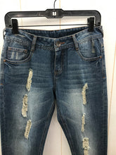 Load image into Gallery viewer, Distressed Crop Blue Womens Jeans - Sz 4