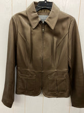 Load image into Gallery viewer, Apt 9 Copper Brown Womens Leather Jacket Sz Medium