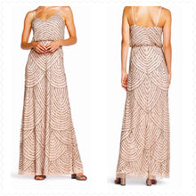 Load image into Gallery viewer, Adrianna Papell Gold Womens Size 4 Gown/Evening Wear