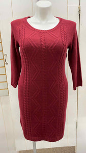 Maurices Burgundy Womens Size 12/14 Dress