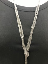 Load image into Gallery viewer, Necklace - Long Black Chain w/Knots