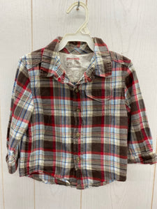 Genuine Kids Boys Size 2T Plaid Shirt