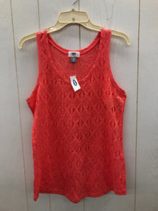Old Navy Coral Womens Lace Shirt - NEW - Small
