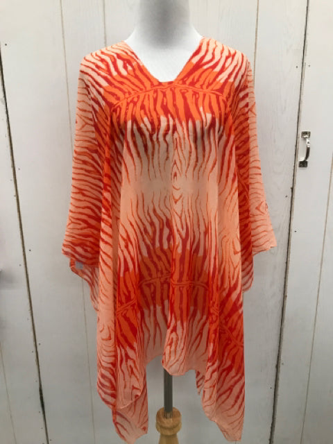 Orange Womens Size OS Coverup