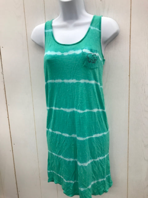 Ivory Ella Green Womens T-shirt Dress Sz 5/6