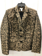 Load image into Gallery viewer, Chico's Tan Print Womens Blazer - Sz Large