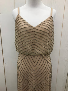 Adrianna Papell Gold Womens Size 4 Gown/Evening Wear