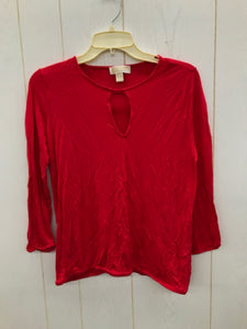 Michael KORS Red Womens Size Small Shirt