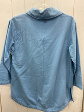 Load image into Gallery viewer, Size Small Soft Surroundings Blue Womens Sweatshirt