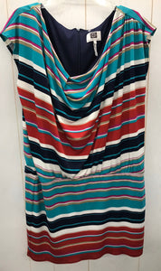 Laundry by Design Stripe Drop Waist Dress - XL 14