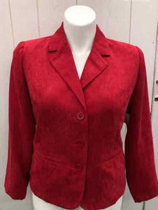 Studio Works Red Womens Size 14 Blazer