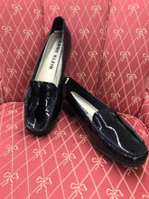 Load image into Gallery viewer, Anne Klein Black Womens Patent Leather Slip Ons