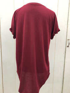 Burgundy Junior Size Small Shirt