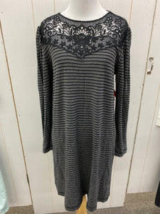 LOFT Gray Womens Size 6 Dress