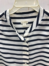 Load image into Gallery viewer, J Crew Blue Stripe Blouse Womens XS