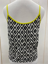 Load image into Gallery viewer, Juniors Black White Crop Tank Top - Sz Large