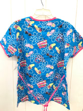 Load image into Gallery viewer, UA Scrubs Blue Womens Scrub Top
