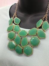 Load image into Gallery viewer, Green Statement Necklace