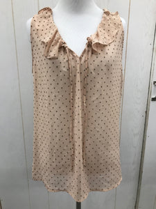 LOFT Peach Size M Womens Blouse