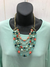 Load image into Gallery viewer, Multi Strand Bead Necklace