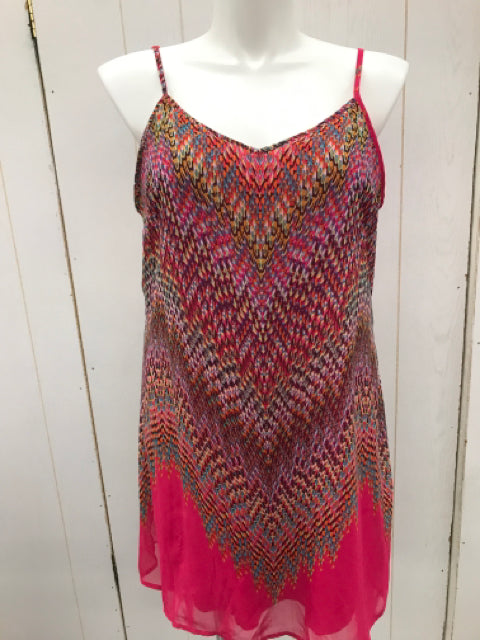 Maurices Pink Print Womens Size XL Summer Dress