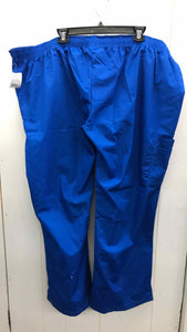 NEW Blue Womens Size 3X Scrub Pants